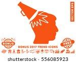 orange megaphone impact head...   Shutterstock .eps vector #556085923