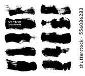 abstract black big textured... | Shutterstock .eps vector #556086283