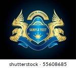 gold heraldry | Shutterstock .eps vector #55608685
