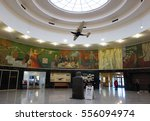 Small photo of NEW YORK - NOVEMBER 27, 2016: Inside of the Historical Marine Air Terminal at La Guardia Airport in New York