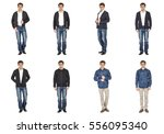 casual clothing concept   same... | Shutterstock . vector #556095340