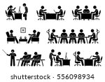 businessman business meeting ... | Shutterstock . vector #556098934