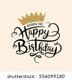 happy birthday greeting card... | Shutterstock .eps vector #556099180