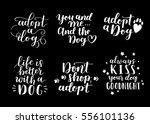 dog adoption hand written... | Shutterstock .eps vector #556101136