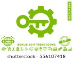eco green key options icon with ...