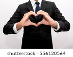 business hands in the form of...   Shutterstock . vector #556120564