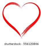 vector heart shape frame with... | Shutterstock .eps vector #556120846