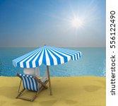 vacation on the seashore. 3d... | Shutterstock . vector #556122490