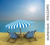 vacation on the seashore. 3d... | Shutterstock . vector #556122493