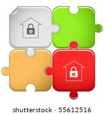 bank. vector puzzle. | Shutterstock .eps vector #55612516