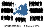 vector silhouette of a group of ... | Shutterstock .eps vector #556126498