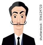 great surrealist painter... | Shutterstock .eps vector #556129723