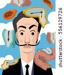 great surrealist painter... | Shutterstock .eps vector #556129726
