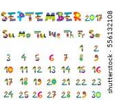 cute september 2017 calendar...   Shutterstock .eps vector #556132108
