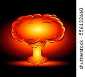 bomb blast in style comics... | Shutterstock .eps vector #556132660