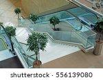 stairway and escalator in the... | Shutterstock . vector #556139080