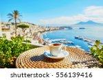 cup of fresh espresso coffee in ... | Shutterstock . vector #556139416