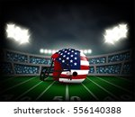 american flag on helmet in... | Shutterstock .eps vector #556140388