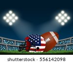 american flag on helmet and... | Shutterstock .eps vector #556142098