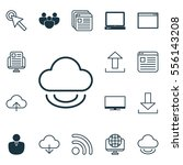 set of 16 internet icons....