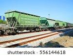 freight railroad hopper cars  | Shutterstock . vector #556144618