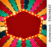 retro banner on colorful...   Shutterstock .eps vector #556146610