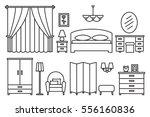 bedroom modern furniture. home... | Shutterstock .eps vector #556160836