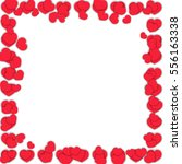 valentines day frame with...   Shutterstock .eps vector #556163338
