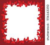 valentine frame with butterflies | Shutterstock .eps vector #556163350