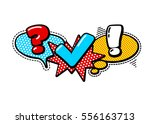 vector quiz isolated logo.... | Shutterstock .eps vector #556163713