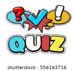vector quiz isolated logo.... | Shutterstock .eps vector #556163716