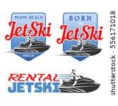 set of jet ski rental logo ...   Shutterstock .eps vector #556171018