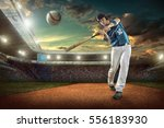 baseball players in action on... | Shutterstock . vector #556183930