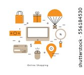 online shopping and promotions... | Shutterstock .eps vector #556184530