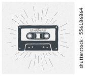 old world's music. inspiring... | Shutterstock .eps vector #556186864
