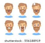 set of male emoji characters.... | Shutterstock .eps vector #556188919