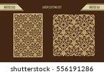 diy laser cutting set. woodcut... | Shutterstock .eps vector #556191286
