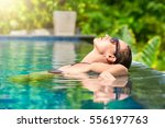 close up view of an attractive... | Shutterstock . vector #556197763