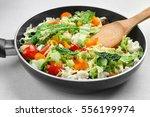 Vegetables In Pan  Closeup