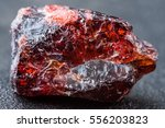 uncut and rough deep red... | Shutterstock . vector #556203823