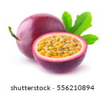 isolated passionfruits. one and ...