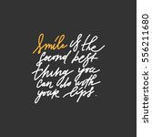 quotes about smile. modern... | Shutterstock .eps vector #556211680