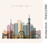 transparent style johannesburg... | Shutterstock .eps vector #556212580