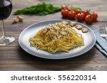 Spaghetti Carbonara With Ham...