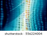 digital binary data on computer ... | Shutterstock . vector #556224004