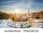 park guell in barcelona  spain   Shutterstock . vector #556228210