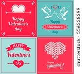 set of valentine cards....   Shutterstock .eps vector #556228399