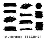 set of black paint  ink brush... | Shutterstock .eps vector #556228414