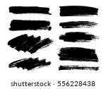 set of black paint  ink brush... | Shutterstock .eps vector #556228438