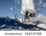 Aft Of Sailing Boat With...